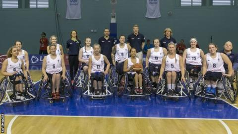 GB Womens Wheelchair Basket Bal