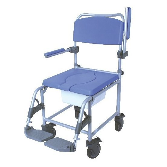 Deluxe Commode Shower Chair Transit with Footrests