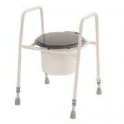 Height Ajustable Toilet Seat Frame with Hinged lid