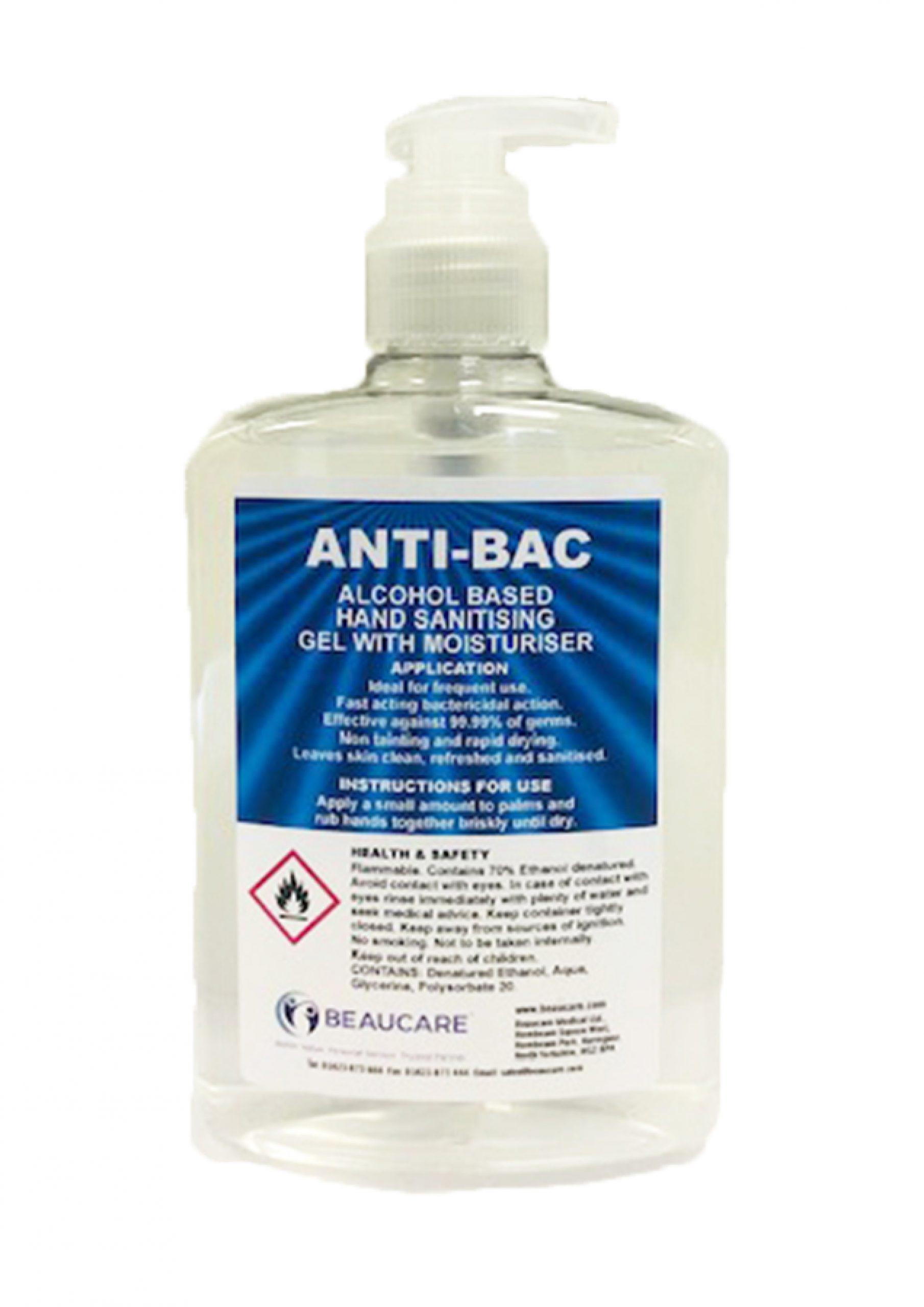Beaucare Anti-Bac Alcohol Based Hand Sanitising Gel