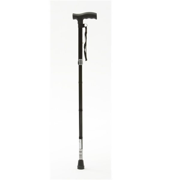 adjustable folding walking stick rubber handle