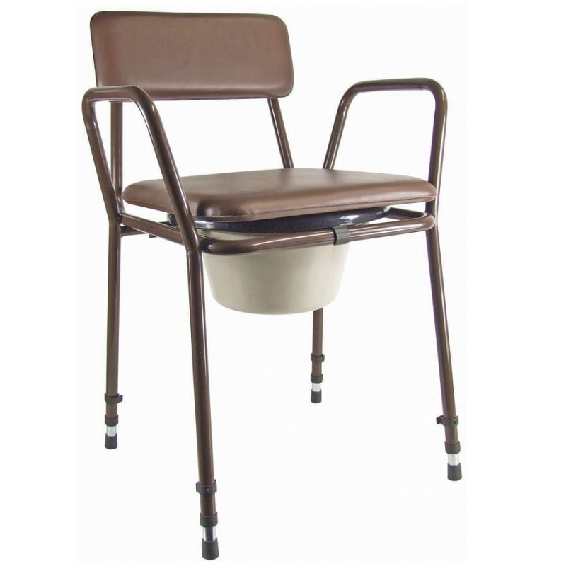 adjustable stacking commode