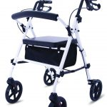 compact lightweight rollator white