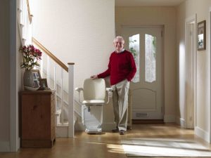man by stairlift