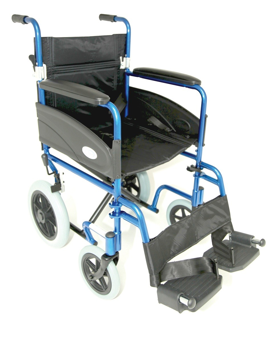 Lightweight Folding Transit Wheelchair Z-Tech Blue